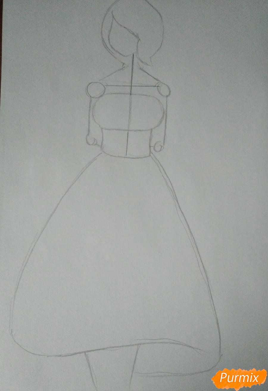 Рисуем Кируми Тоджо из игры Данганронпа карандашами - шаг 1
