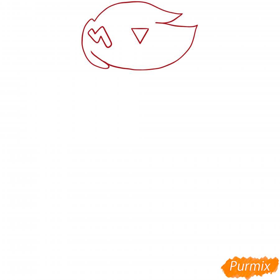 Рисуем Коко Розу - шаг 1
