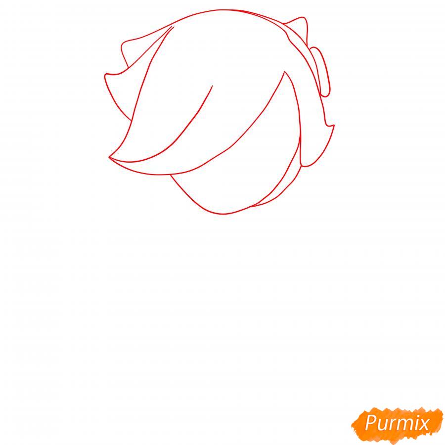 Рисуем Колетт из Бравл Старс карандашами - шаг 1