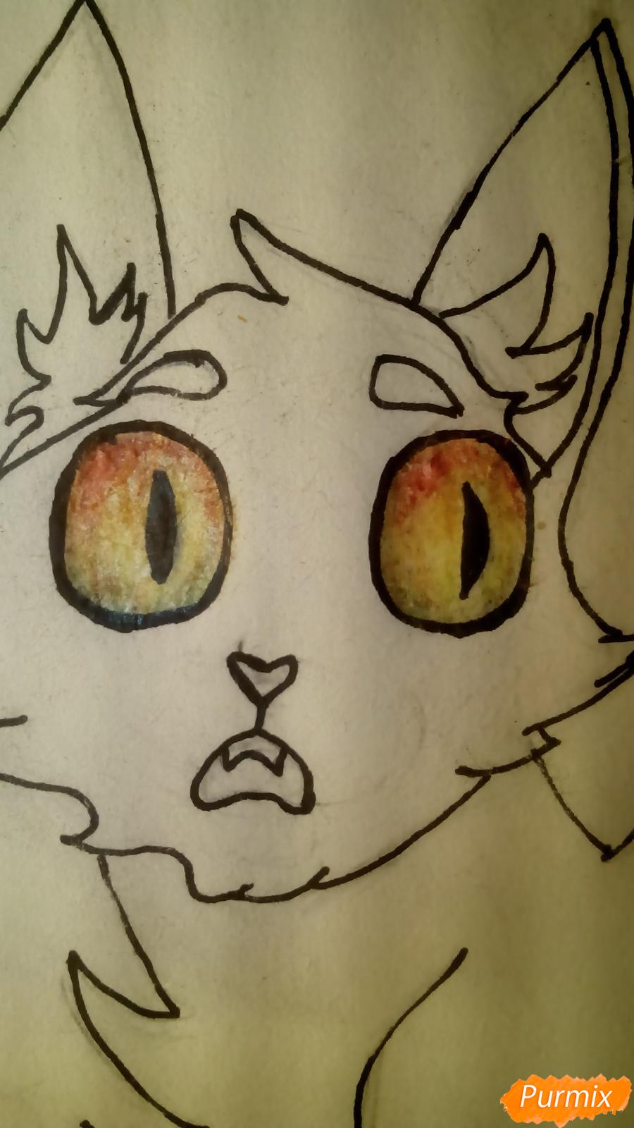 Рисуем кота Мистера Полночь из игры Фрэн Боу карандашами - шаг 7