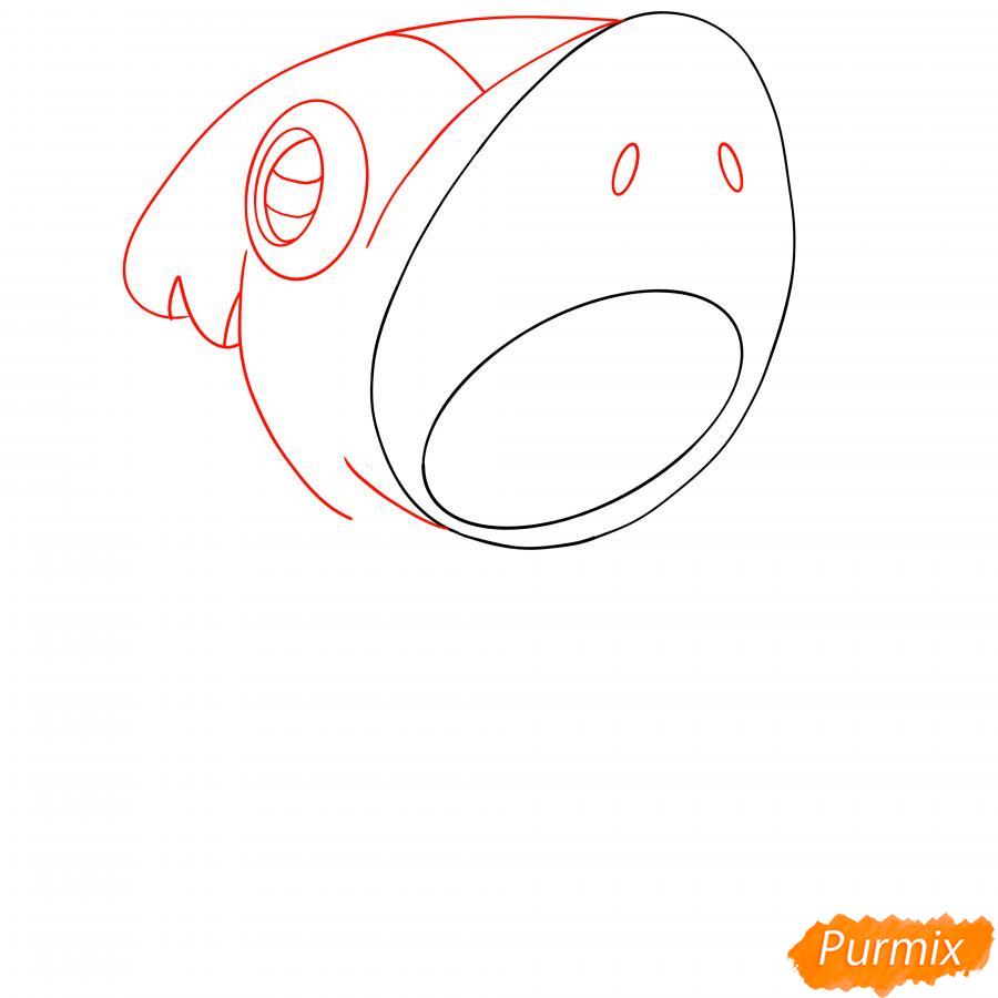 Рисуем Леона акулу - шаг 3