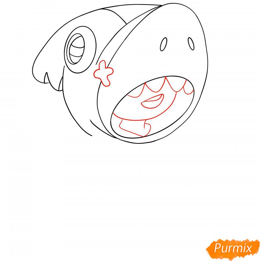 Рисуем Леона акулу - шаг 4