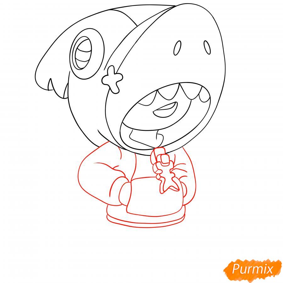 Рисуем Леона акулу - шаг 5