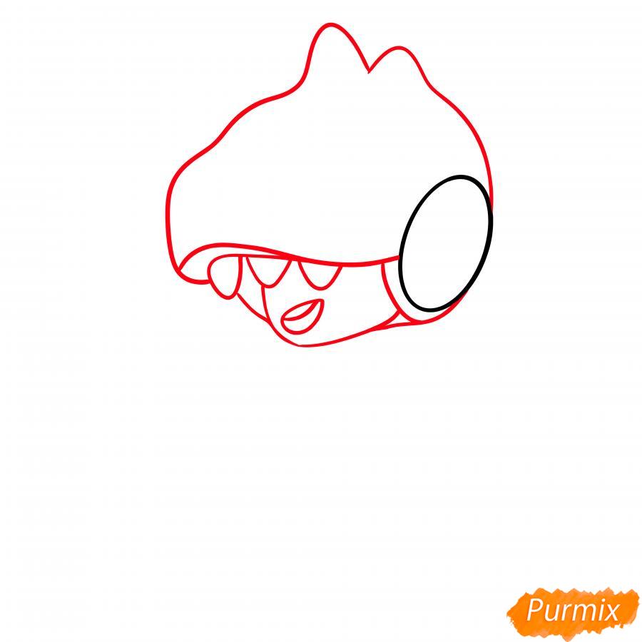 Рисуем Леона динозавра - шаг 2