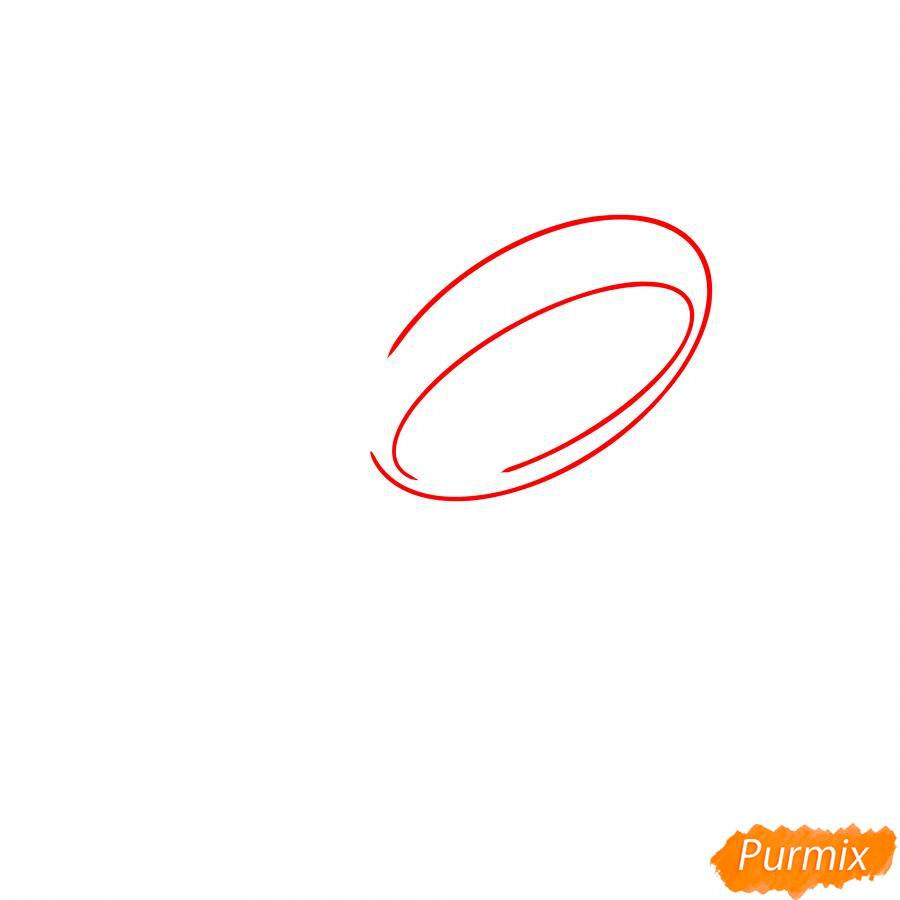 Рисуем Леона из Бравл Старс - шаг 1