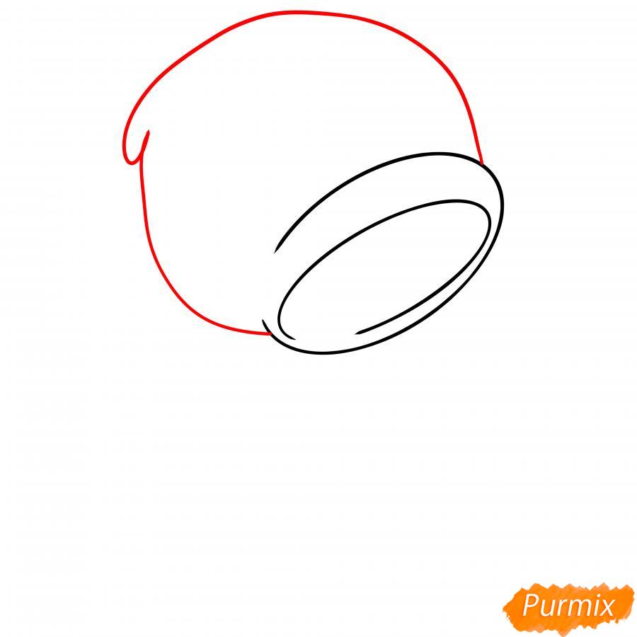 Рисуем Леона из Бравл Старс - шаг 2