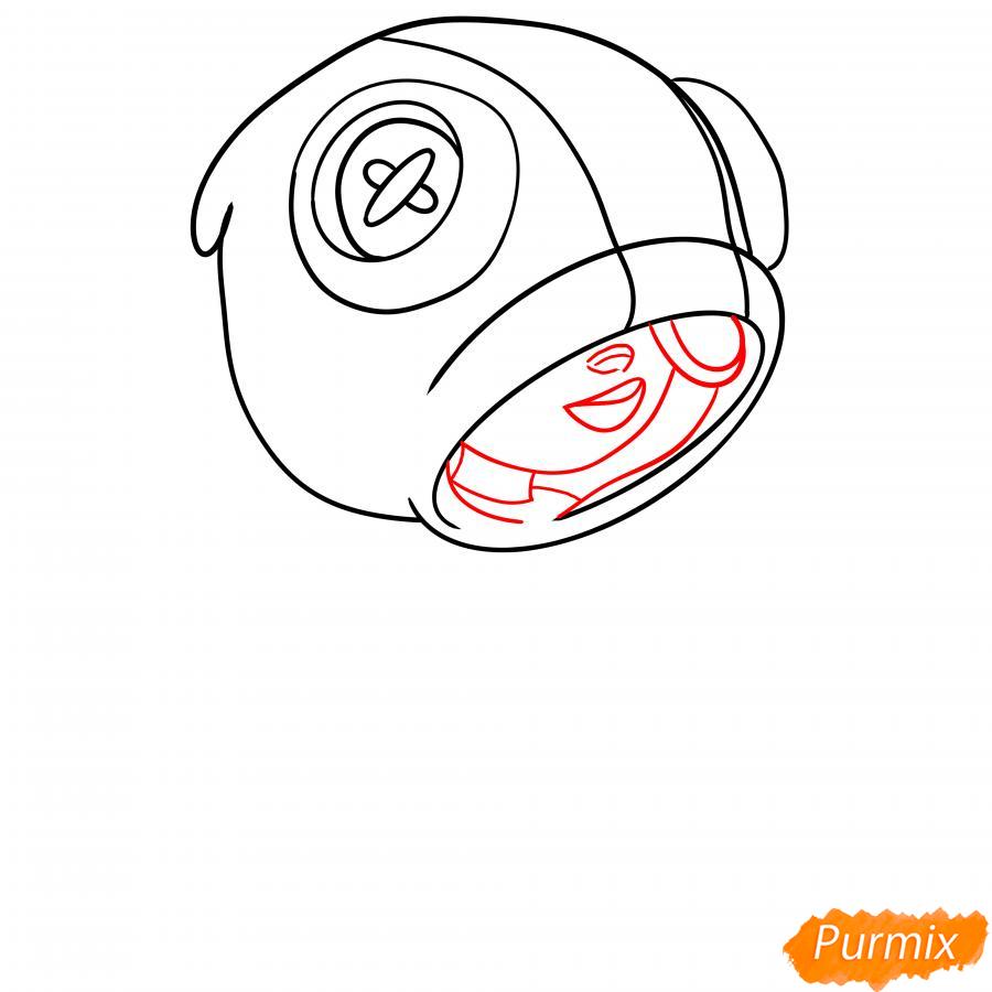 Рисуем Леона из Бравл Старс - шаг 4