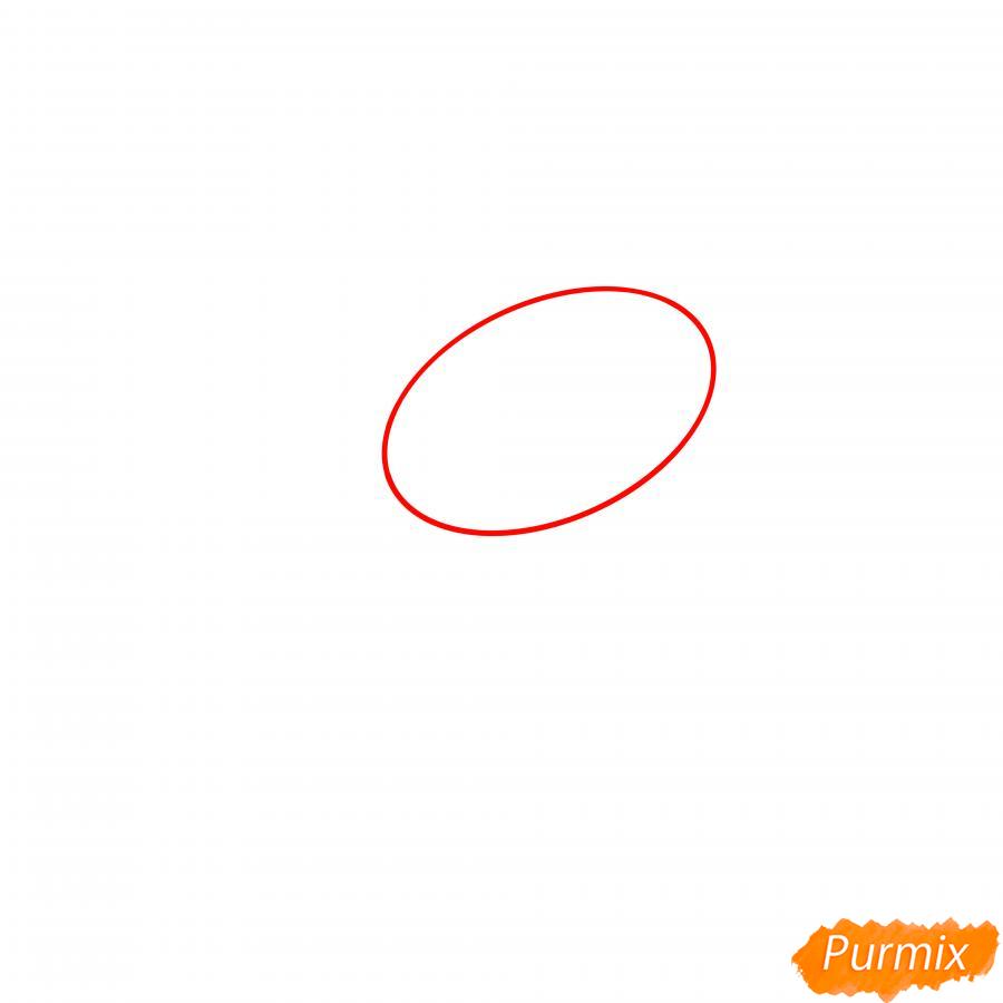 Рисуем Леона утку - шаг 1