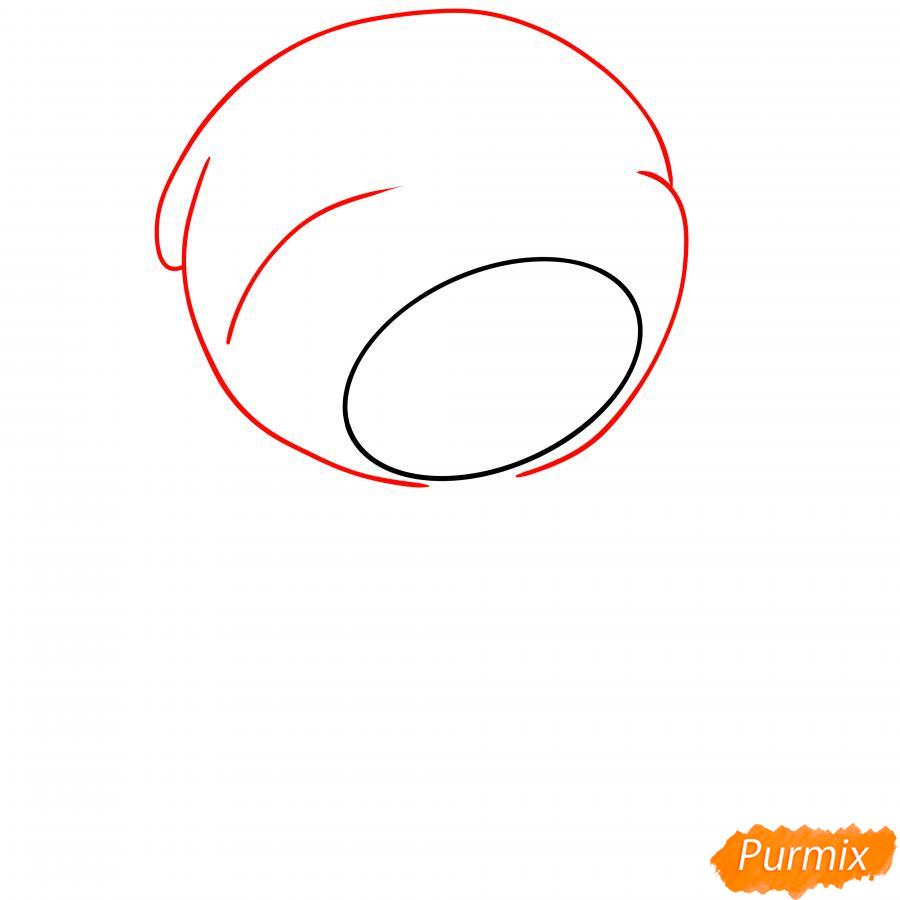 Рисуем Леона утку - шаг 2
