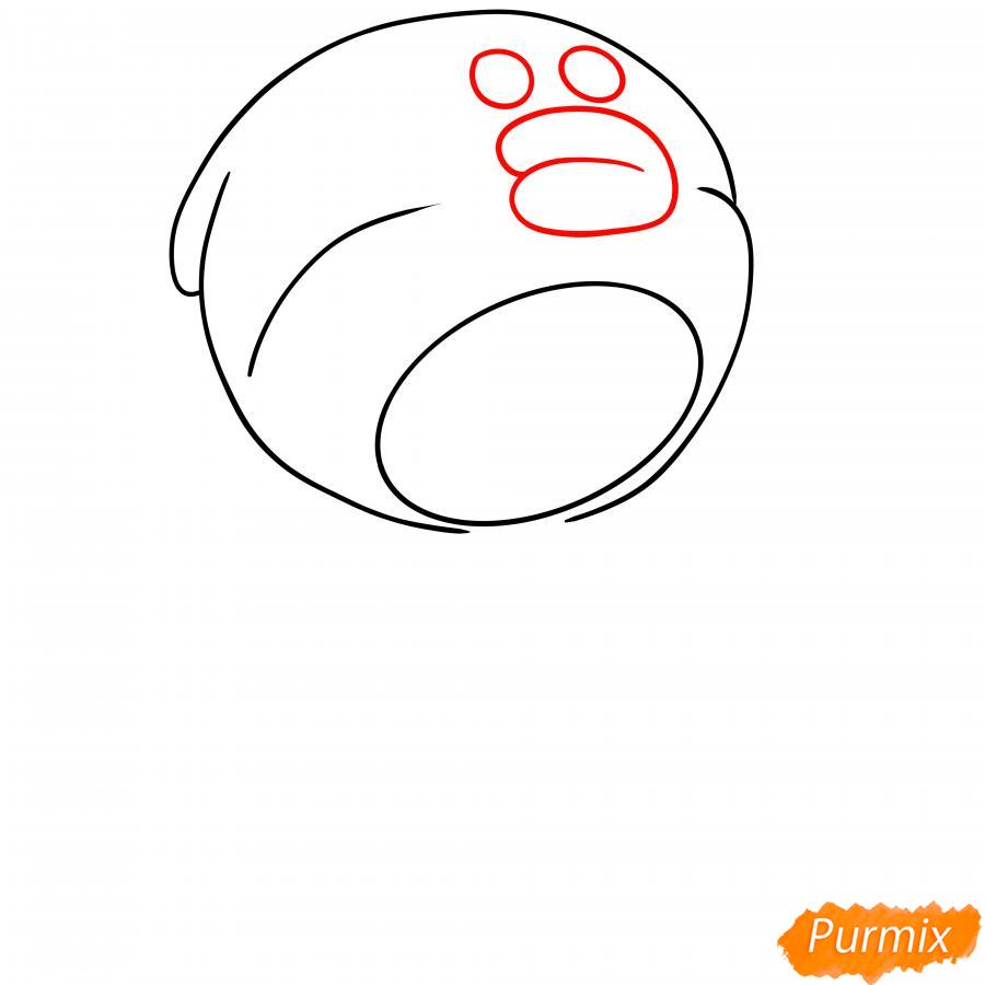 Рисуем Леона утку - шаг 3