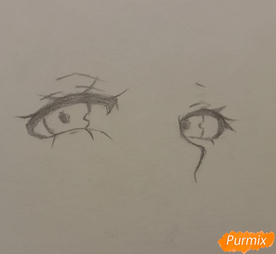 Рисуем Люмин из игры Genshin Impact карандашами - шаг 1