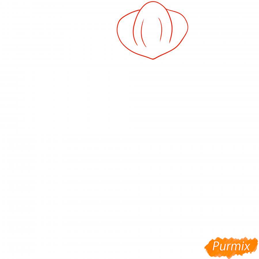 Рисуем Мортиса из Бравл Старс карандашами - шаг 1