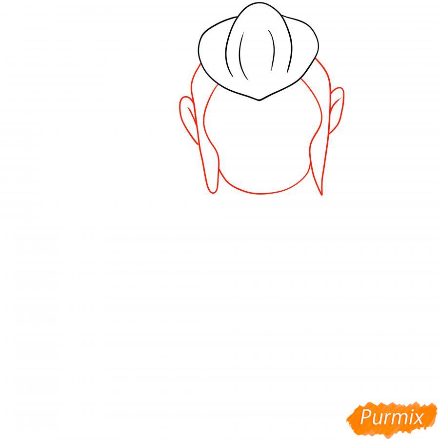 Рисуем Мортиса из Бравл Старс карандашами - шаг 2