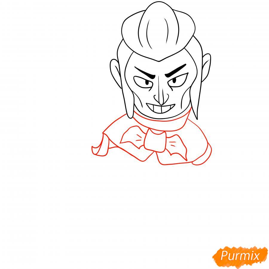 Рисуем Мортиса из Бравл Старс карандашами - шаг 4