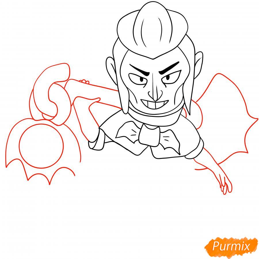 Рисуем Мортиса из Бравл Старс карандашами - шаг 5