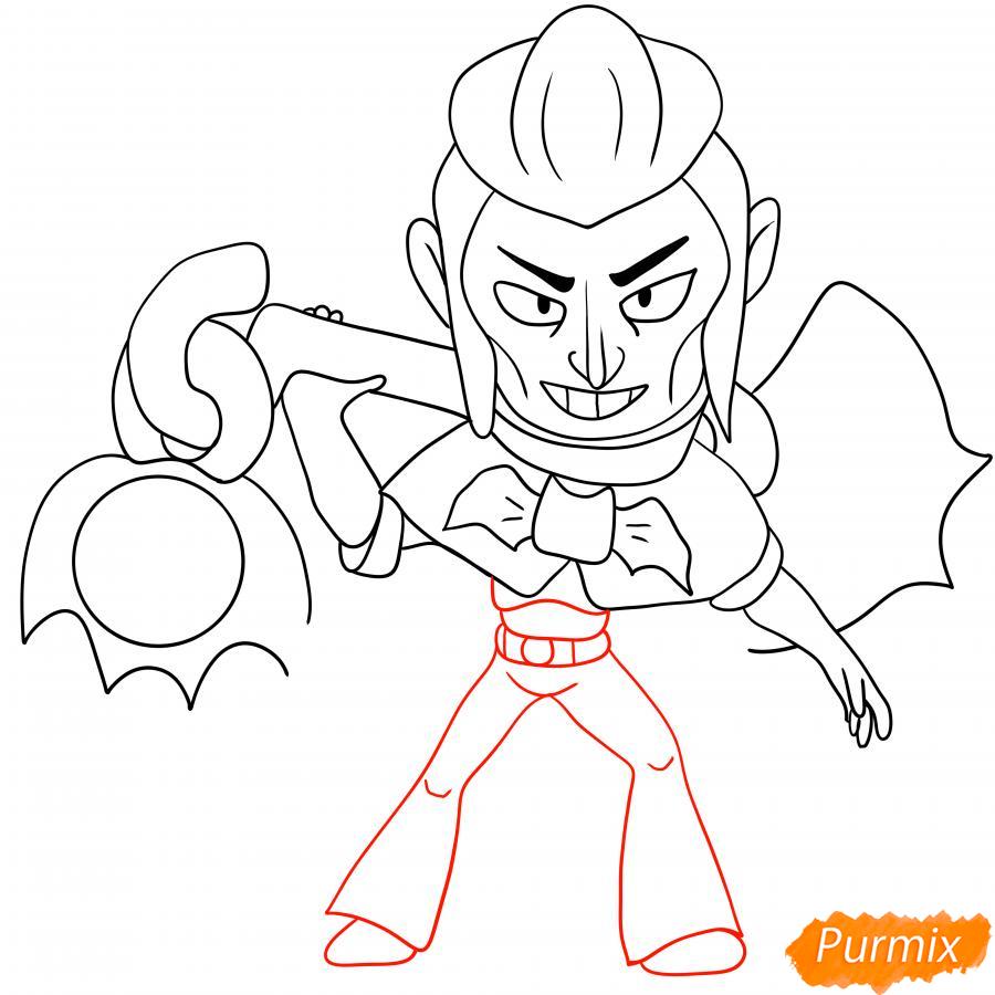 Рисуем Мортиса из Бравл Старс карандашами - шаг 6