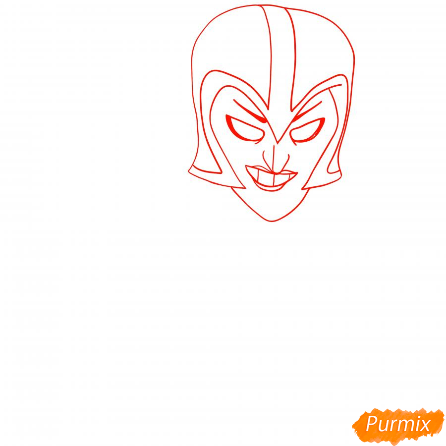 Рисуем Ночную ведьму Мортиса - шаг 1