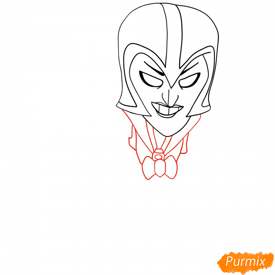 Рисуем Ночную ведьму Мортиса - шаг 2
