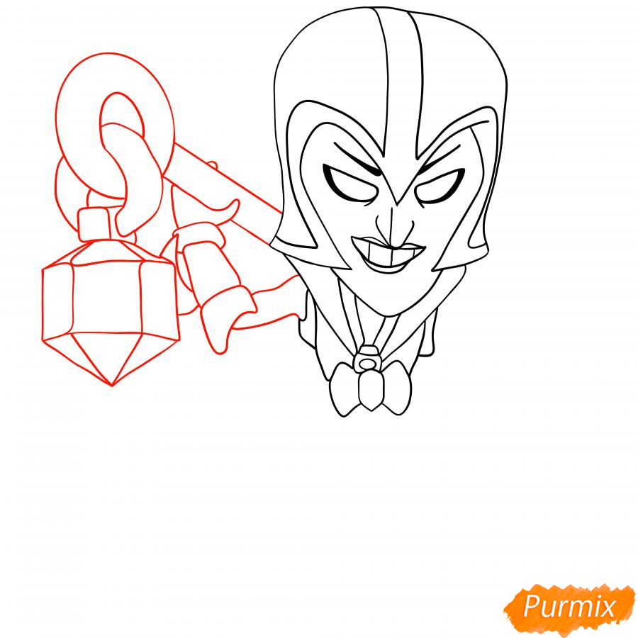 Рисуем Ночную ведьму Мортиса - шаг 3