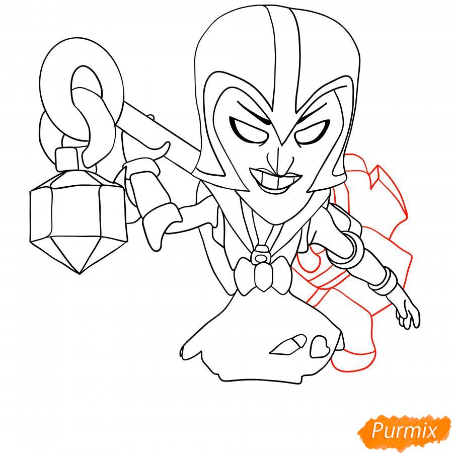 Рисуем Ночную ведьму Мортиса - шаг 6