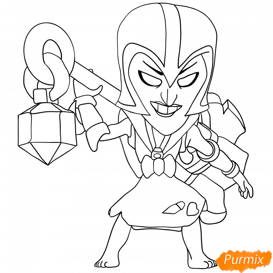 Рисуем Ночную ведьму Мортиса - шаг 8