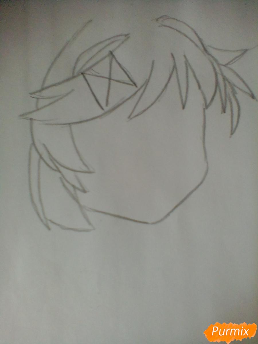 Рисуем портрет Нацуки из игры Doki Doki Literature Club - шаг 1