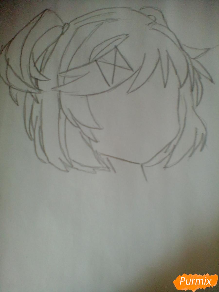 Рисуем портрет Нацуки из игры Doki Doki Literature Club - шаг 2