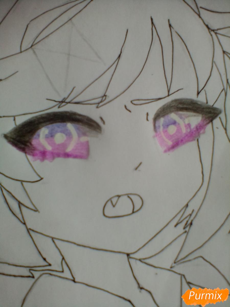 Рисуем портрет Нацуки из игры Doki Doki Literature Club - шаг 5