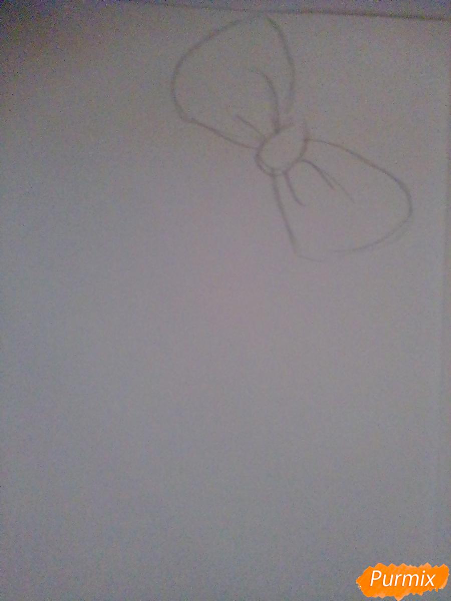 Рисуем портрет Саёри из игры Doki Doki Literature Club - шаг 1
