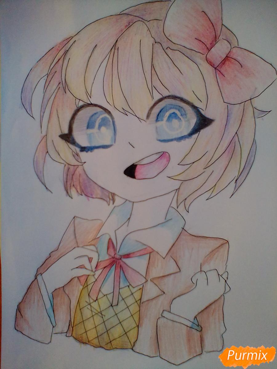 Рисуем портрет Саёри из игры Doki Doki Literature Club - шаг 10