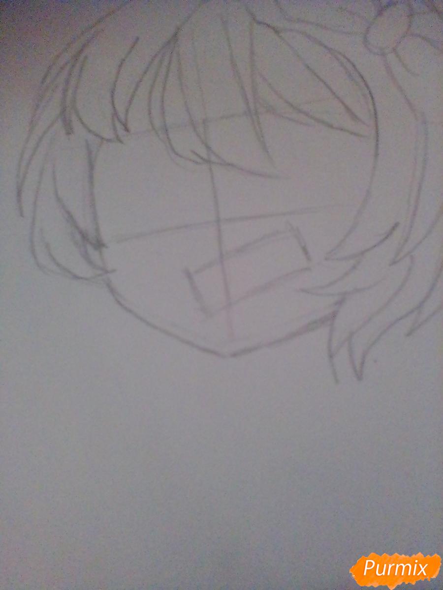 Рисуем портрет Саёри из игры Doki Doki Literature Club - шаг 3