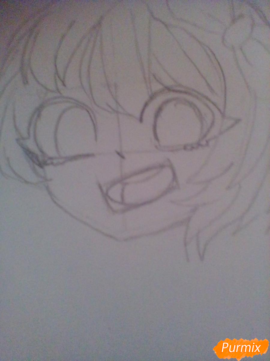 Рисуем портрет Саёри из игры Doki Doki Literature Club - шаг 4