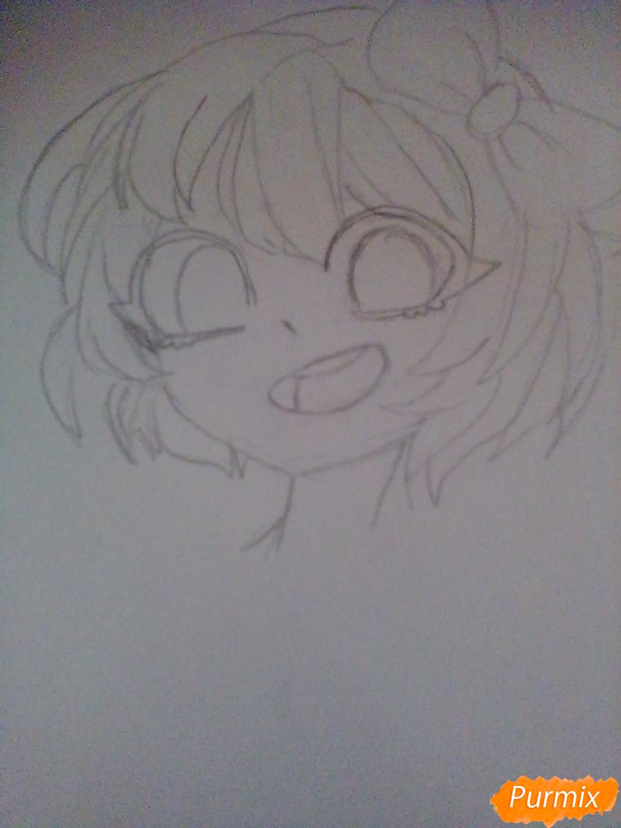 Рисуем портрет Саёри из игры Doki Doki Literature Club - шаг 5