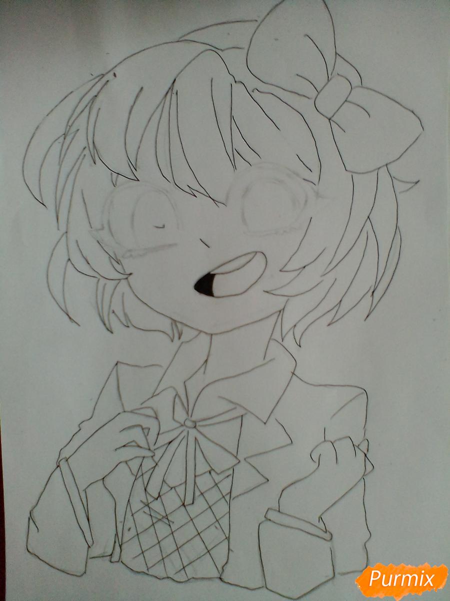 Рисуем портрет Саёри из игры Doki Doki Literature Club - шаг 7