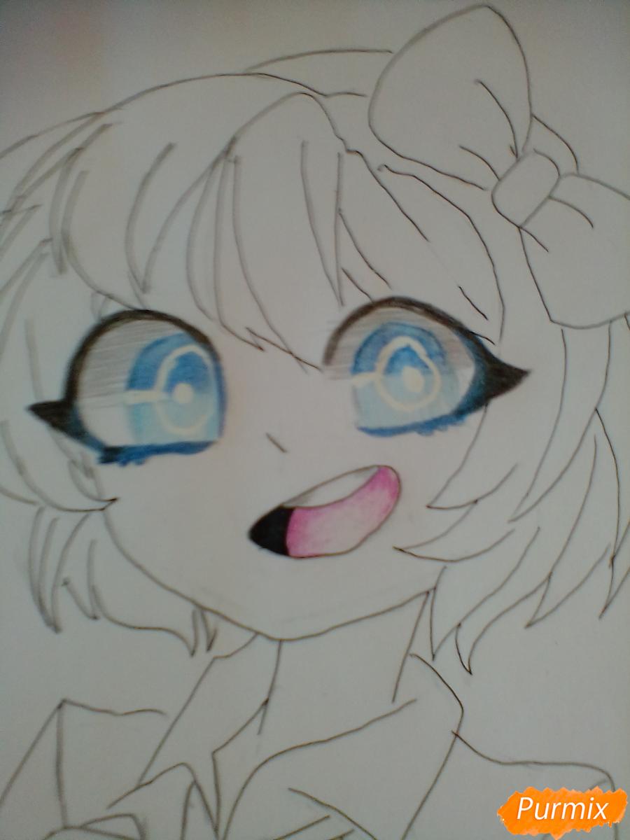 Рисуем портрет Саёри из игры Doki Doki Literature Club - шаг 8