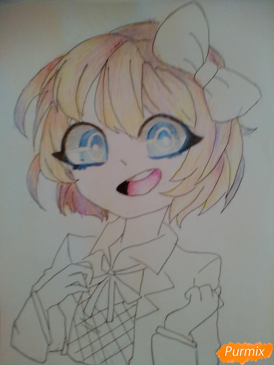 Рисуем портрет Саёри из игры Doki Doki Literature Club - шаг 9