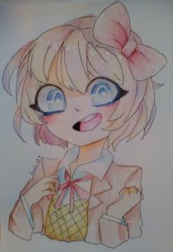 Фото портрет Саёри из Doki Doki Literature Club