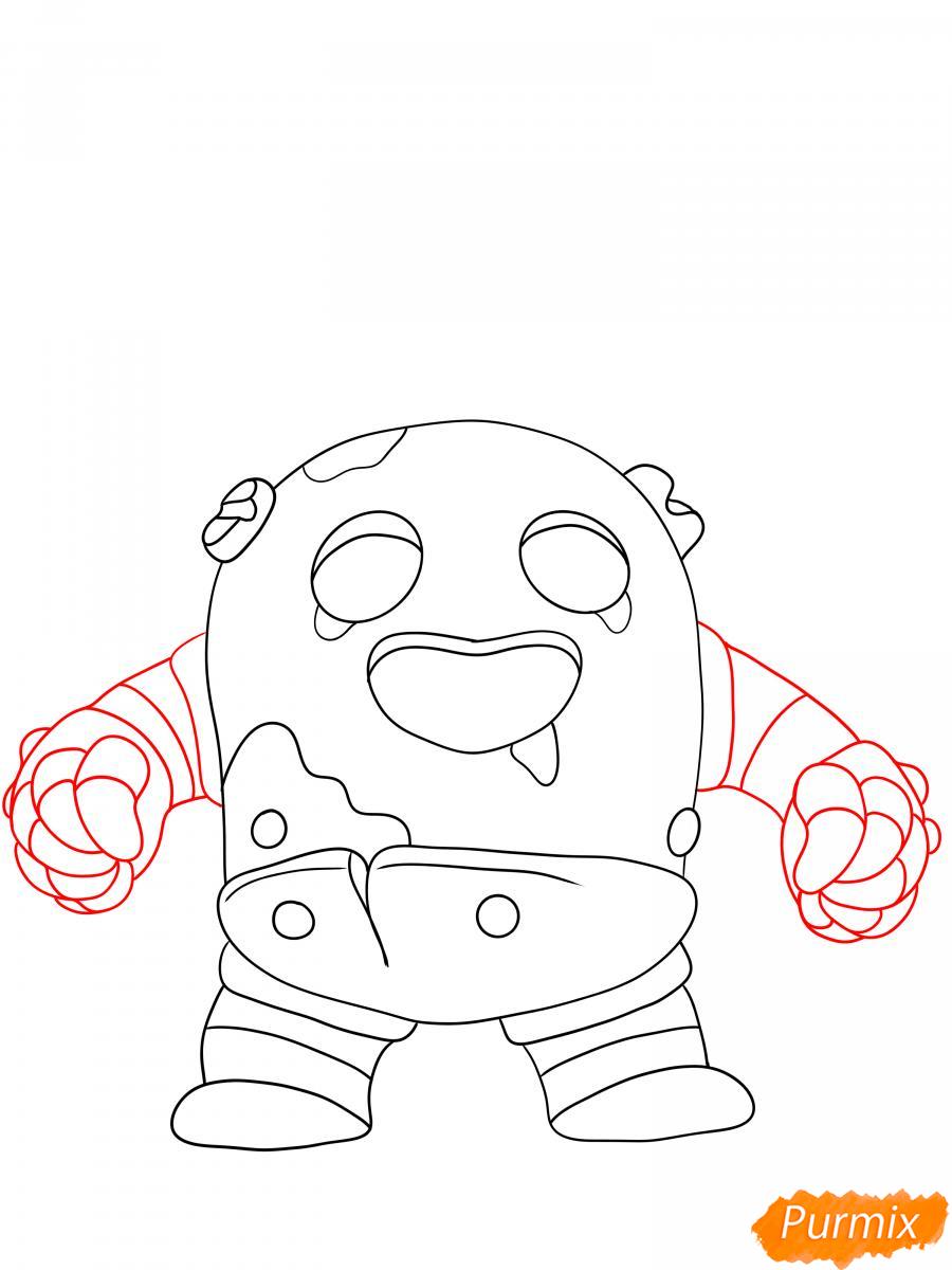 Рисуем робо Спайка - шаг 4