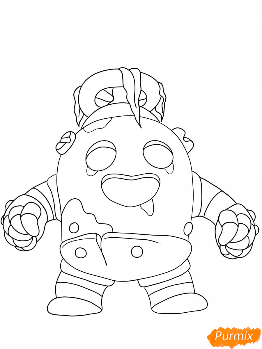 Рисуем робо Спайка - шаг 6