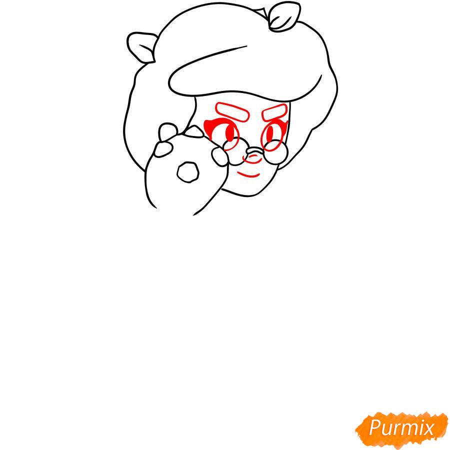 Рисуем Розу из Бравл Старс карандашами - шаг 2