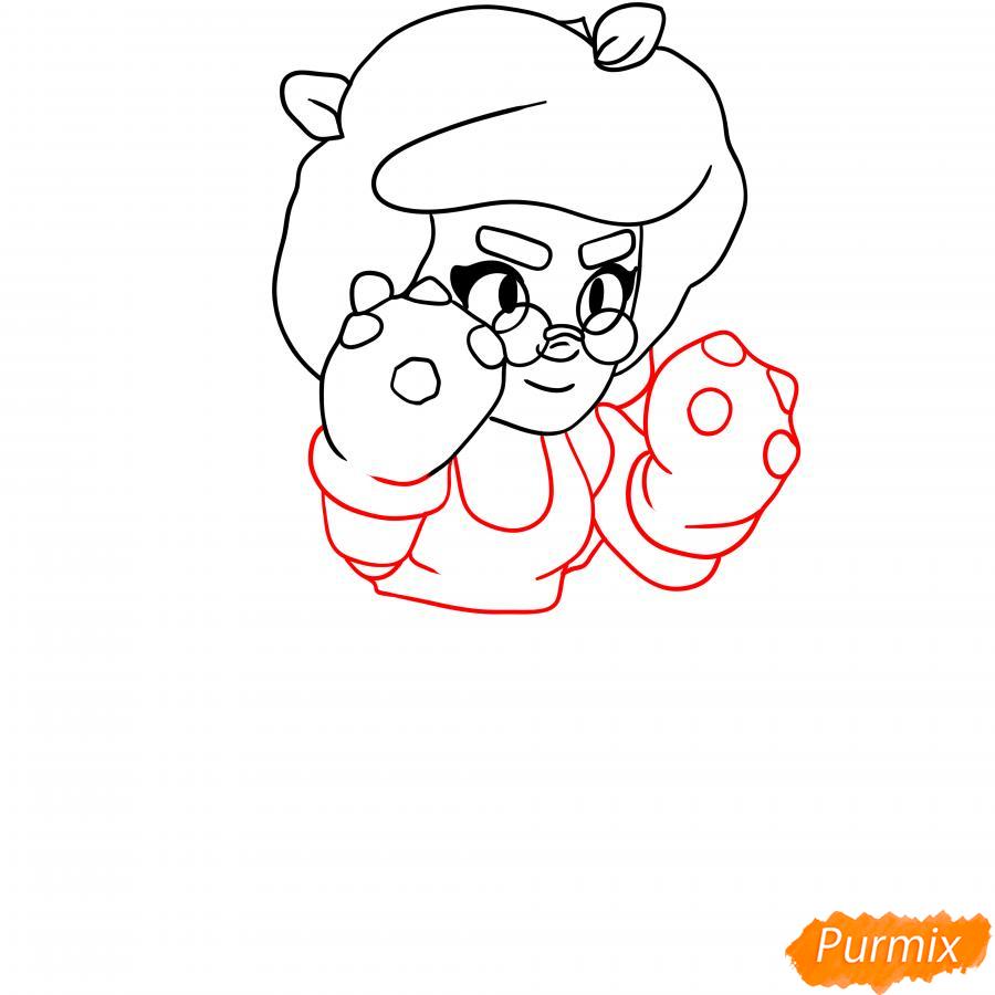 Рисуем Розу из Бравл Старс карандашами - шаг 3
