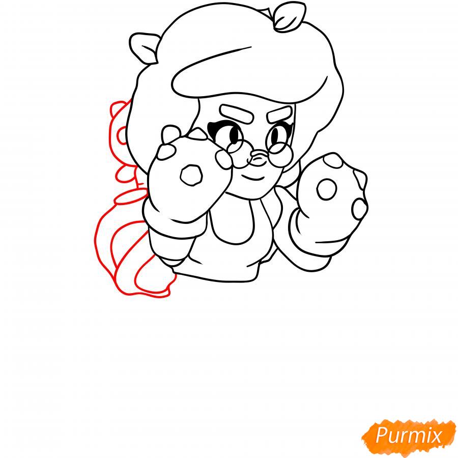 Рисуем Розу из Бравл Старс карандашами - шаг 4