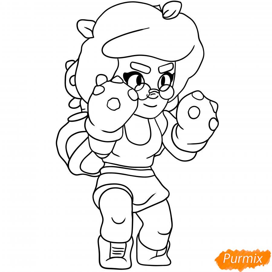 Рисуем Розу из Бравл Старс карандашами - шаг 6