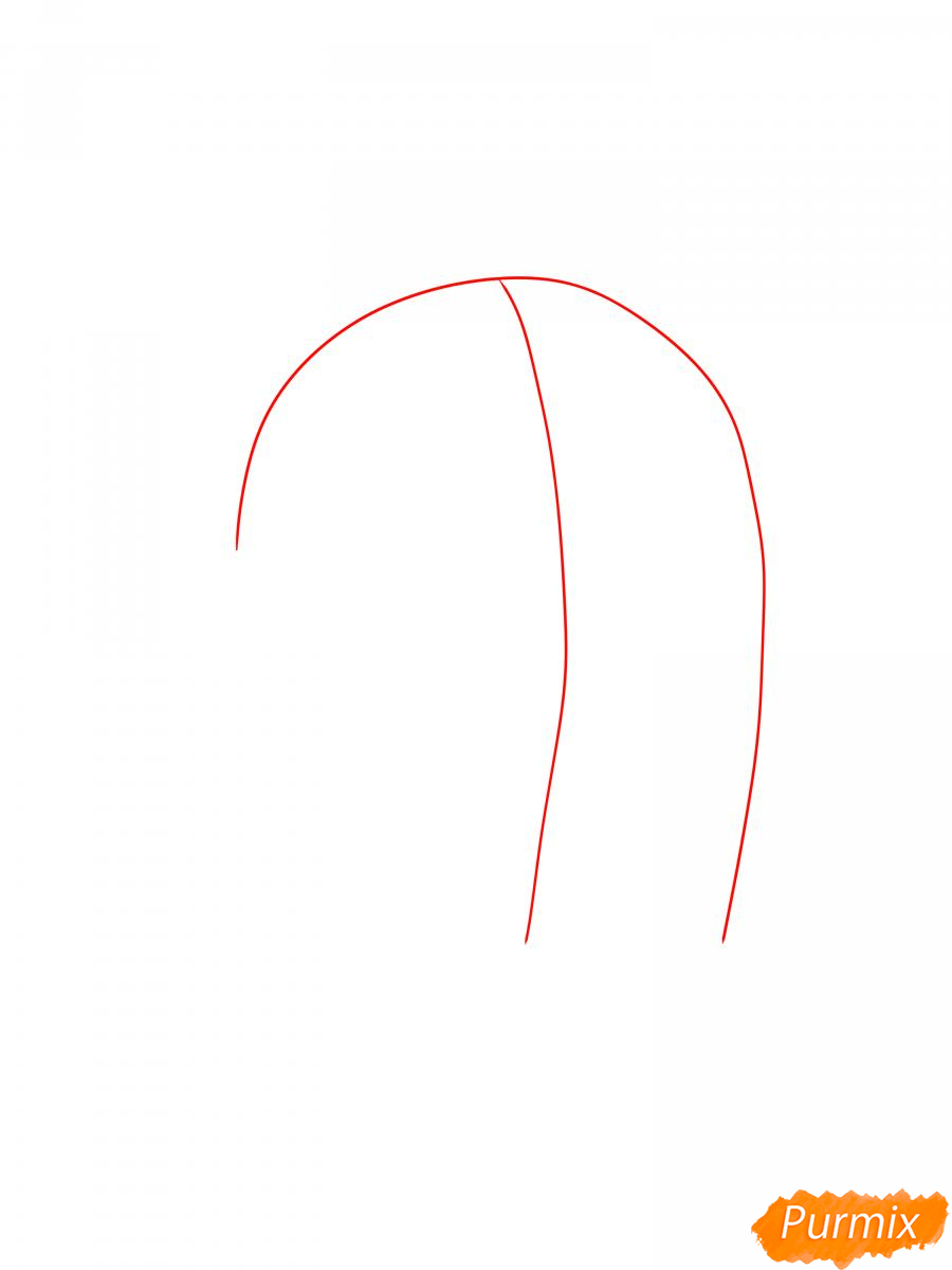 Рисуем сакуру Спайка - шаг 1
