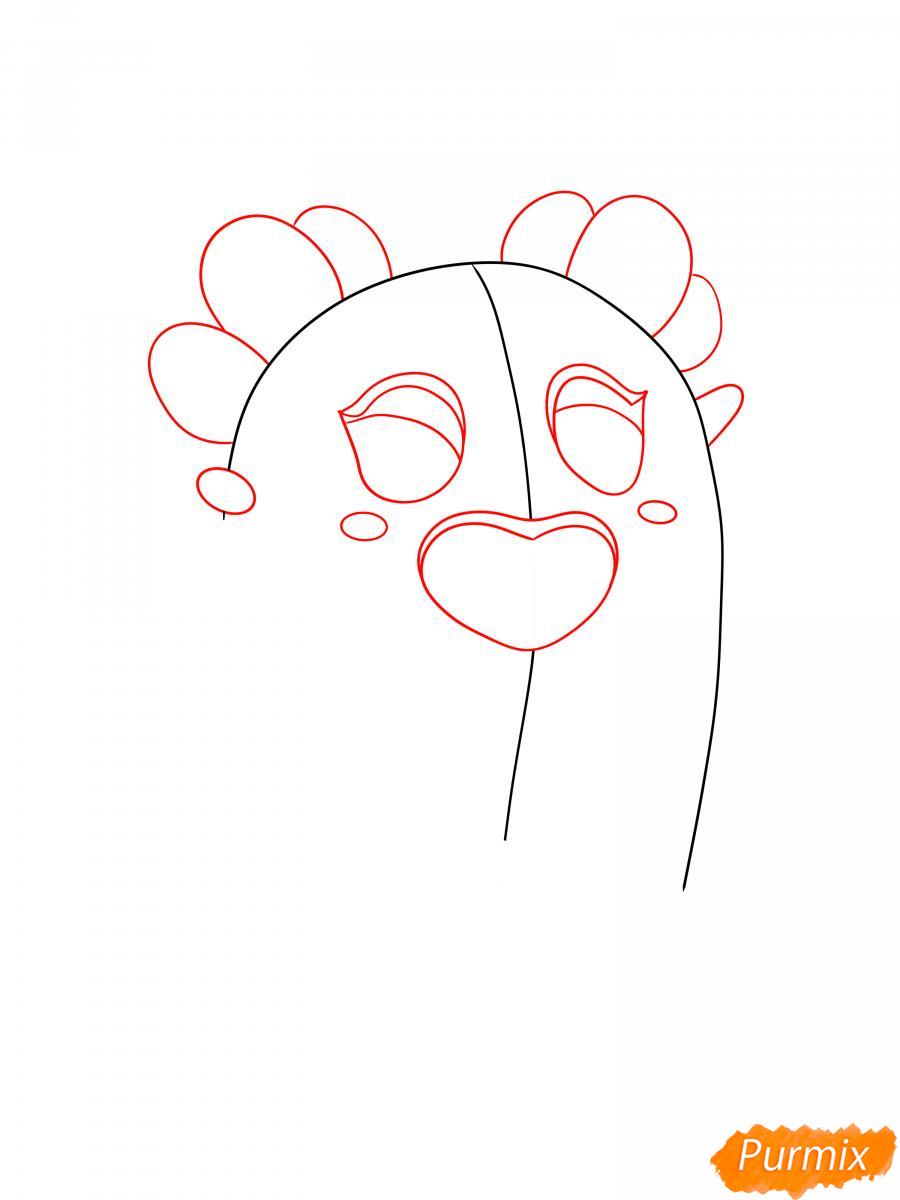 Рисуем сакуру Спайка - шаг 2