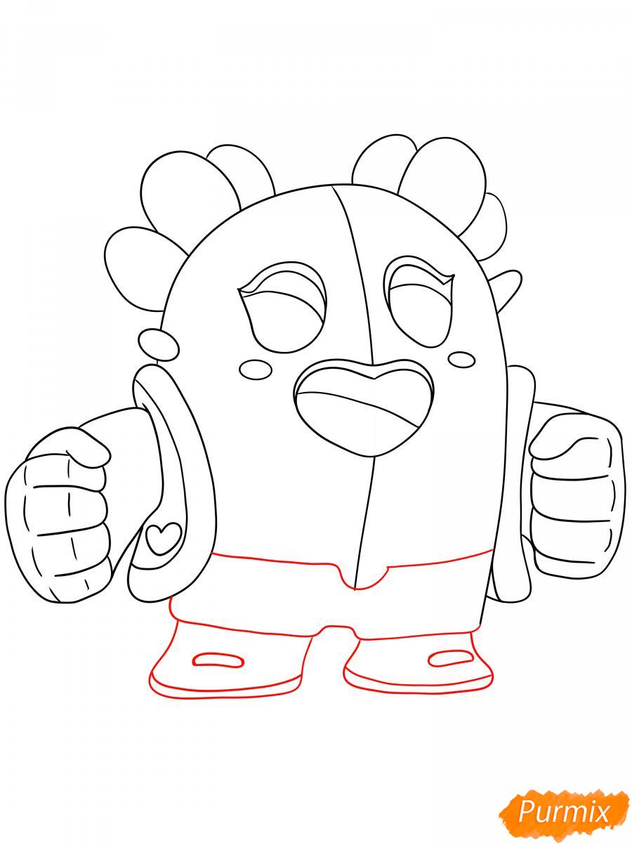 Рисуем сакуру Спайка - шаг 4