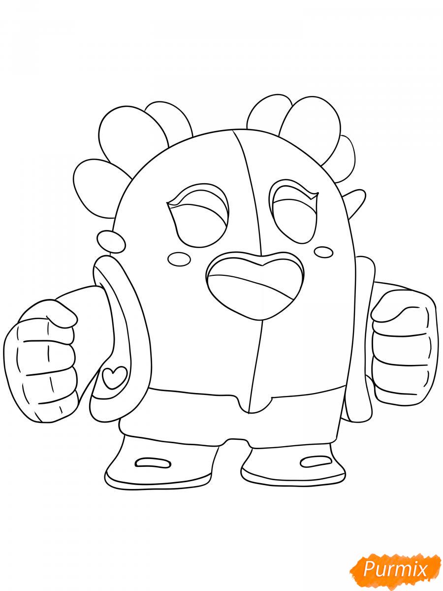 Рисуем сакуру Спайка - шаг 5