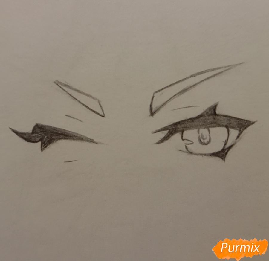 Рисуем Синь Янь из игры Genshin Impact карандашами - шаг 1