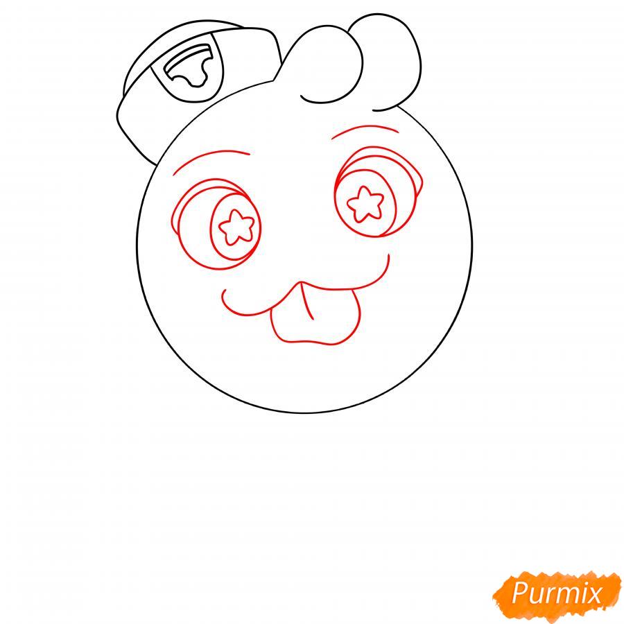 Рисуем Скуика с мячом - шаг 4