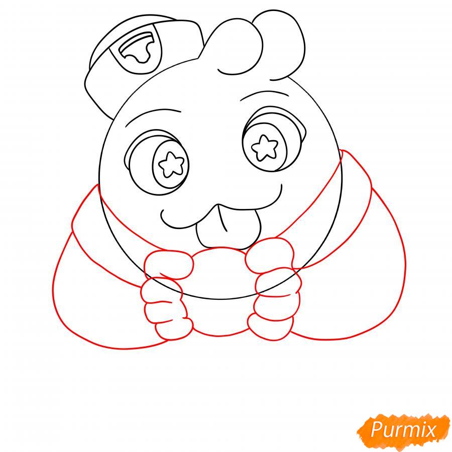 Рисуем Скуика с мячом - шаг 5